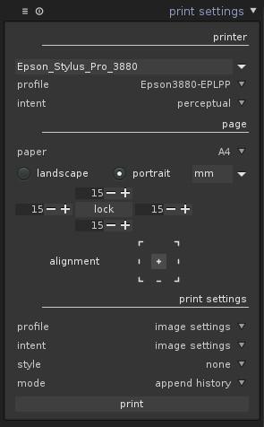 Print Module   darktable